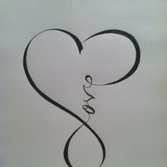"""""""Love"""" calligraphy that resembles the """"infinity"""" sign. Nice as a tattoo."""