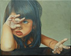 "Saatchi Online Artist Thu Nguyen; Painting, ""No"" #art.  This reminds me of my daughter."