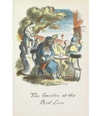 The Garden at the Red Lion From The Local, a series of lithographs depicting London pubs. Edward Ardizzone, Warwick Castle, English Writers, London Pubs, Book Jacket, Lion, Watercolor, Illustration, Garden
