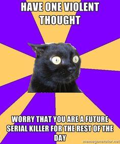 Anxiety Cat via Meme Generator