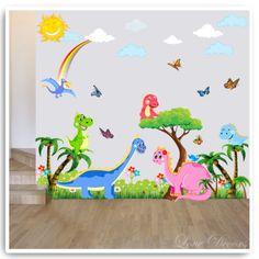 Dinosaur Wall Decal Wall Decal Wall Sticker Tree Wall Decal - Dinosaur wall decals nursery
