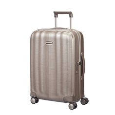 Samsonite Lite Cube 55cm Small Carry On Spinner Suitcase Luggage Ivory Gold af5086b2db