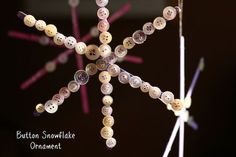 finished craft stick button snowflake ornaments