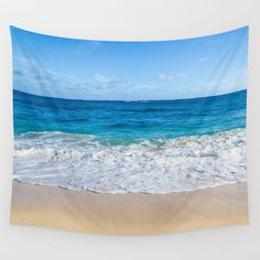 Ocean Wall Tapestry, beach wall tapestry, tropical, blue, turquoise, wave, sea, wall hanging decor, grommets, coastal style, coastal decor by EllenSmilePhoto on Etsy https://www.etsy.com/listing/250904435/ocean-wall-tapestry-beach-wall-tapestry
