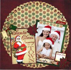 Reminisce Here Comes Santa Layout - Scrapbook.com