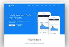 KeySoft - WordPress Software Landing Page Professional Wordpress Themes, Best Wordpress Themes, Dentist Website, Amazing Websites, Modern Tools, Construction Services, Photography Website, Startups, Landing