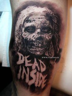 Tatuaje de estilo black and grey inspirado en The Walking Dead.