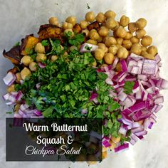 ... : Warm Butternut Squash and Chickpea Salad + Game Day Kick Off Week