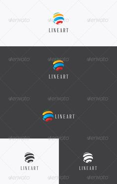 LineArt Logo — Vector EPS #abstract #ink • Available here → https://graphicriver.net/item/lineart-logo/3055113?ref=pxcr
