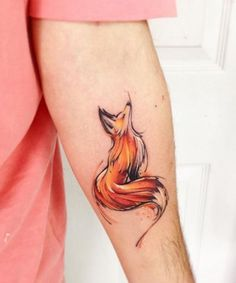 Magnificent Watercolor Fox Tattoo Design More
