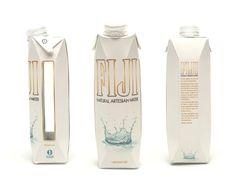 FIJI Water Packaging Redesign von Alex Kelley via Behance Water Packaging, Juice Packaging, Beverage Packaging, Coffee Packaging, Bottle Packaging, Water Branding, Water Paper, Tetra Pak, Agua Mineral