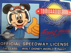 Ask at Tomorrowland Speedway for License for kids!!