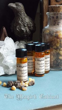 Frankincense & Myrrh Perfume Oil, Pagan, Pagan Oils, Fragrance Oil, Resin Oils, Perfume, Anointing Oil, Wicca Supplies, Resin Oil, Scented