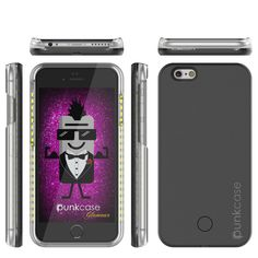 iPhone 6+/6S+ Plus Punkcase LED Light Case Light Illuminated Case, BLACK for Apple W/ Battery Power Bank      Dimmer switch to control light output and let you control the light.     Rechargeable battery and charging cord. Long lasting battery that works Independently of your Phone.     Light at the tip of your fingers. Perfect lighting is just a click away with an easy on/off switch.     1 charging cord included - Connect it to computers, laptops, portable chargers and other devices with…