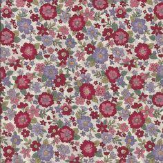 Tissus à fleurs - Tissu Frou-frou fleuri - fleurs bordeau/mauve - Tissu-lecien : vente - Bouillon de couture