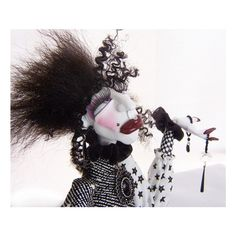 Sassy Black and White Art Doll