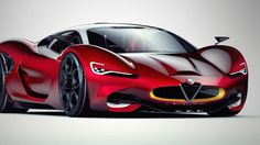 This is a virtual concept of an Alfa Romeo Supercar - and it's dripping in beauty, and want!