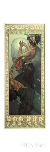 The Moon and the Stars: Pole Star, 1902 Giclee Print by Alphonse Marie Mucha at AllPosters.com