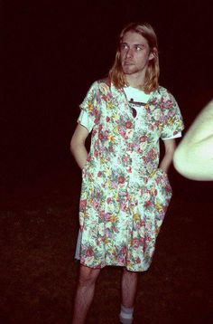 Kurt Cobain rocking a dress