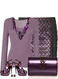 A fashion look from April 2013 featuring John Lewis, STELLA McCARTNEY and leather sandals. Browse and shop related looks. Casual Work Outfits, Classic Outfits, Chic Outfits, Fashion Outfits, Purple Fashion, Love Fashion, Womens Fashion, Fashion Design, Jw Mode