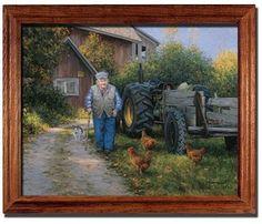 Mr. Churchill's Farm Barn Robert Duncan Art Print Framed