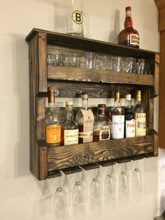 Wood Wine and/or Liquor Shelf Rack Pallet by HiddenPondsWoodcraft
