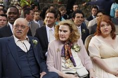 Pin for Later: Modern Love: See Cameron and Mitchell's Wedding Album  Merle (Barry Corbin), Barb (Celia Weston), and Pam (Dana Powell) sit in the audience.