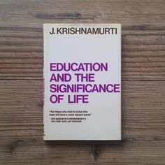 """Benjamin Shey Lee 在 Instagram 上发布:""""Jiddu Krishnamurti. Education and the significance of life. """"Merely to implant existing values in the mind of the child, to make him…"""""""