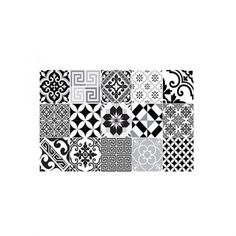 Set de table en vinyle patchwork de carreaux de ciment