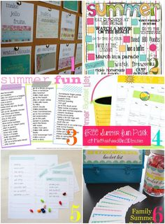 Ideas for summer lists. Things to do with kids.
