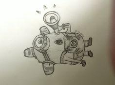 My despicable me 2 drawing of a minion awwwwwwwwwww! He's so cute! >.