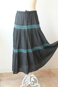 Bohemian Gypsy Peasant Skirt Vintage by TequilaCloset on Etsy, $38.00
