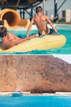 From water parks 🏄♂ to sailing cruises ⛵ and boat trips to hidden coves and sea caves, what will be your next excursion in Zakynthos? Sailing Cruises, Water Parks, Caves, Summer Fun, Good Times, Surfboard, Trips, Boat, Island