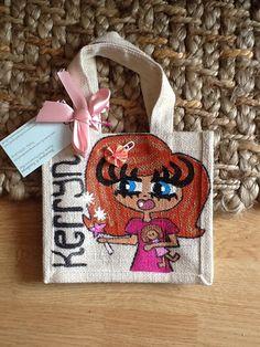 Kerryn Small Jute Bags, Burlap, Reusable Tote Bags, Hessian Fabric, Jute, Canvas