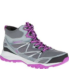 757f9e17 Merrell Womens Capra Bolt Mid Waterproof Hiking Boot GreyPurple 85 M US *  You can find