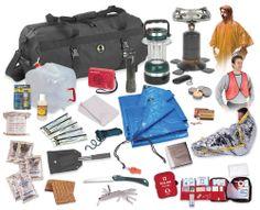 Emergency Survival kit, prepping, disaster, hurricane, water, food, blankets