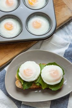While poached eggs make a lovely and elegant brunch addition, I find myself shying away from them when I'm cooking for more than a few people. The timing and logistics of poaching eggs for a crowd can be tricky. There may be a solution, though — swapping out your saucepan for a muffin tin and a little bit of water. Whether you want two eggs or two dozen eggs, this method seems quick, easy, and almost too good to be true. Curious to see if this method really worked, and whether it matched up…
