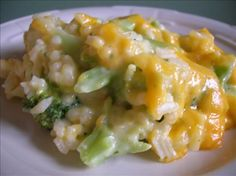 No Cheese-Whiz Broccoli Rice Casserole