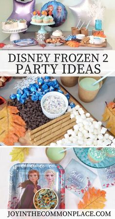Are you looking for Disney Frozen party ideas? Setting up a Frozen 2 party doesn't need to take a lot of time or money! Discover how to set up a simple hot cocoa bar, make a yummy Frozen 2 chex mix recipe and find out where to buy Disney Frozen 2 party supplies! | Disney Frozen 2 | Party Theme | Ana and Elsa | Olaf | Birthday Party | Party Decorations | Frozen 2 Party Supplies |  Sponsored by @anagramballoons #ad  Sprinkles, treat cups & cupcake liners: @sweetsandtreats #ad