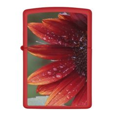 Red Sunflower Petals And Rain Drops Zippo Lighter - red gifts color style cyo diy personalize unique