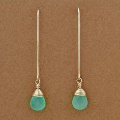 Blue Chalcedony Earrings   Elizabeth Plumb Jewelry