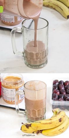 Shakes and smoothies are fulfilling but contains unwanted sugars and flavoring agents. Homemade shakes are the best and can be made in a very healthy way! Here we are READ MORE. Healthy Milkshake, Milkshake Recipes, Healthy Breakfast Smoothies, Healthy Drinks, Smoothie Recipes, Banana Breakfast, Blackberry Smoothie, Apple Smoothies, Healthy Shakes