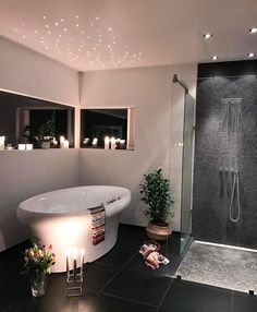 I did this with my bathroom ceiling but all over it, not just above the bath. Put them on a dimmer too!