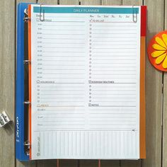DAILY PLANNER Printable PDF. Personal undated organizer and To Do list. Daily agenda Instant Download. #design #filofax