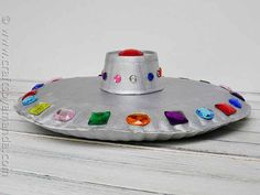 Make a Paper Plate Flying Saucer | 25 Paper Plate Crafts Kids Can Make