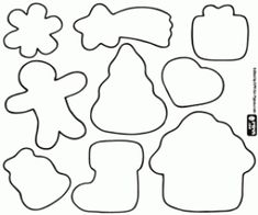 Cookie Cutters, Templates, Deco, Google, Gingerbread, Biscuits, Drawings, Happy, Ginger Cookies