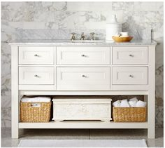 How to repurpose a sideboard as a vanity. From In My Own Style.