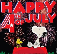Happy 4th of July! Snoopy cartoon via www.Facebook.com/Snoopy