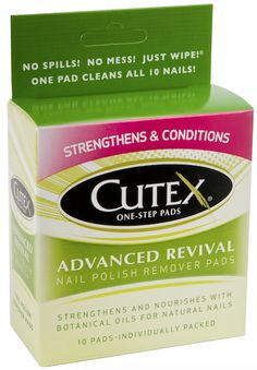 Top 10 Beauty Under $10: Cutex Advanced Revival Nail Polish Remover Pads