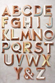 Woodshop Monogram Letter - anthropologie.com